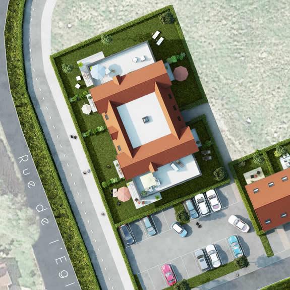 Appartement T2 avec jardin ou balcon, 1 parking privatif